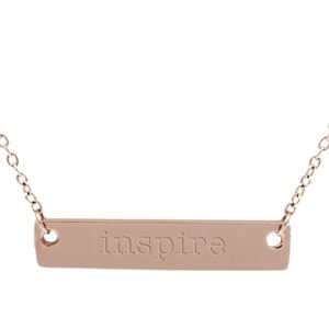 """Picture of Rose Gold 'Inspire' Bar Necklace - 16"""""""